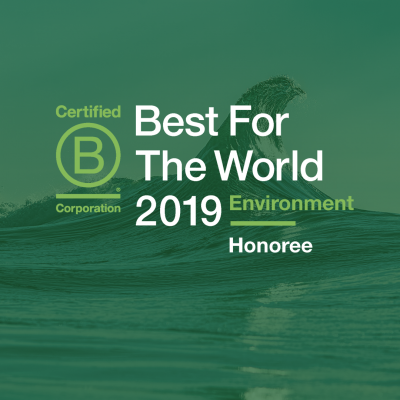 BCorp Best for the World Environnement 2019